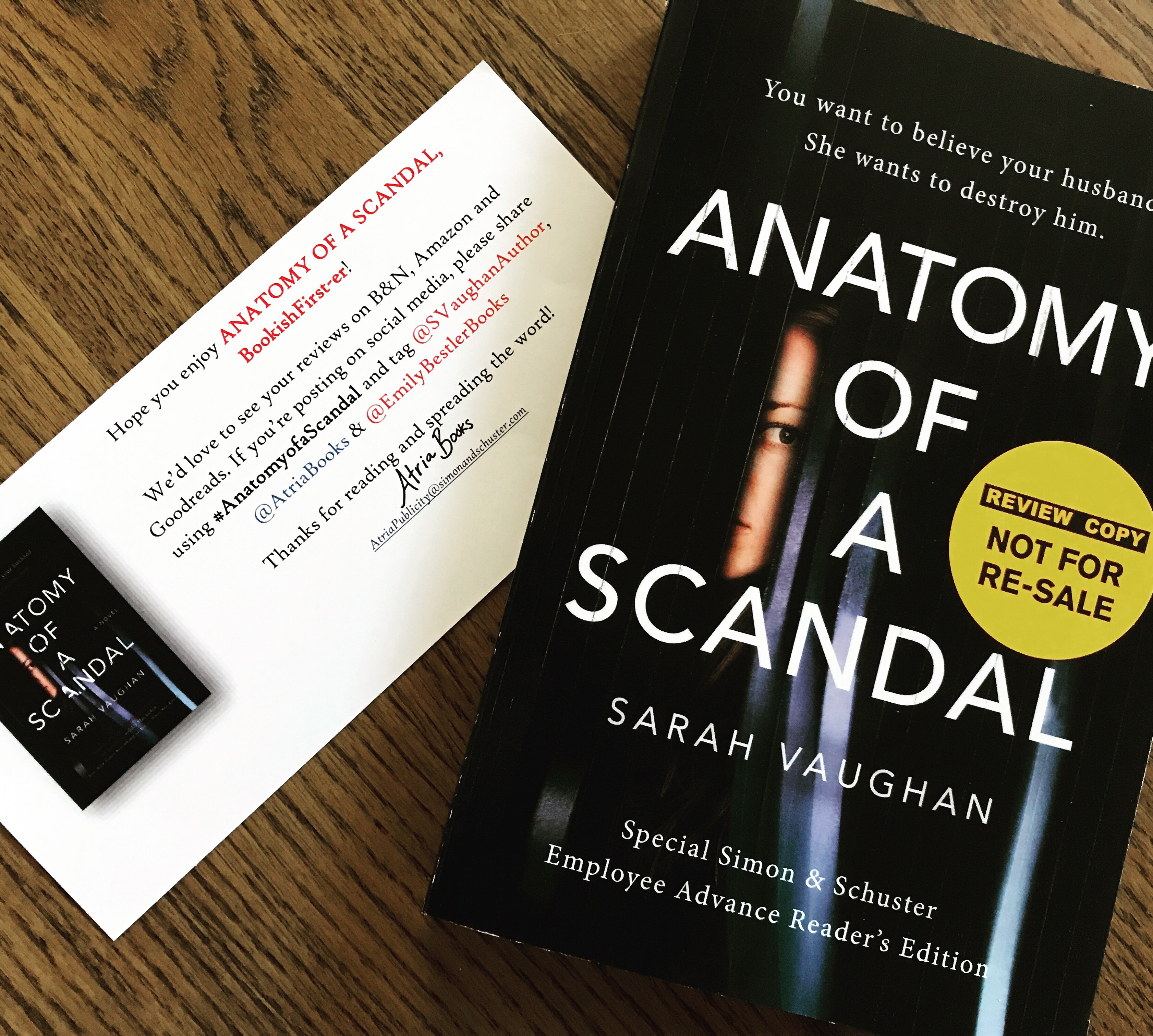 Anatomy of a Scandal by Sarah Vaughan ~ HAPPY RELEASE DAY JANUARY 11 ...